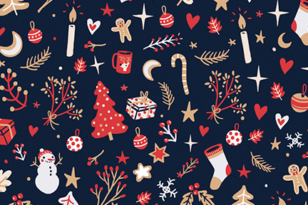 Christmas Illustration.Christmas Market Claire Paq